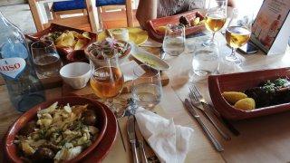 repas restaurant salines rio maior - vallée du tage - voyage portugal